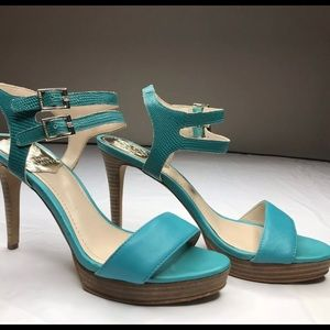 Vince Camuto Double Ankle Strap Heels